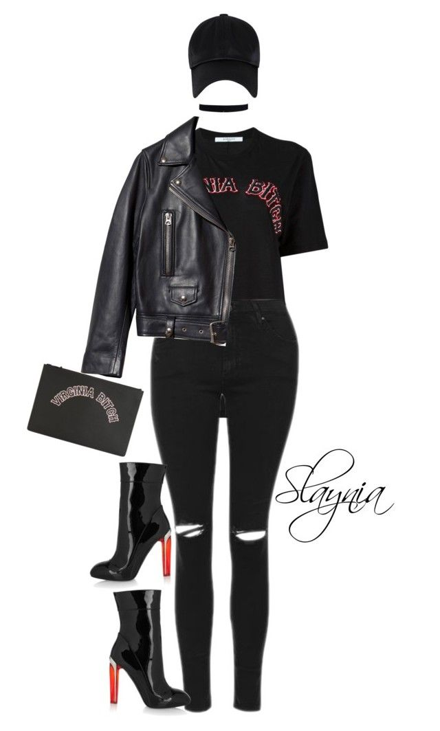 """""""Virginia B!tch"""" by slaynia ❤ liked on Polyvore featuring Givenchy, Topshop, Acne Studios, Alexander McQueen and polyvoreeditorial"""