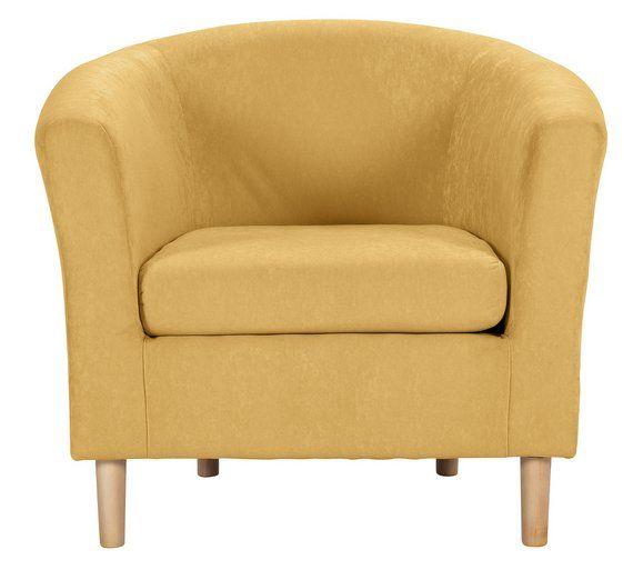 buy home fabric tub chair yellow at argos co uk visit argos co uk