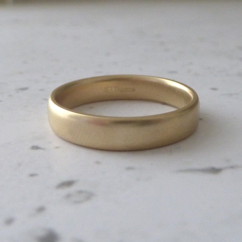 9ct Yellow Gold Wedding Band 4mm Rings, Band rings