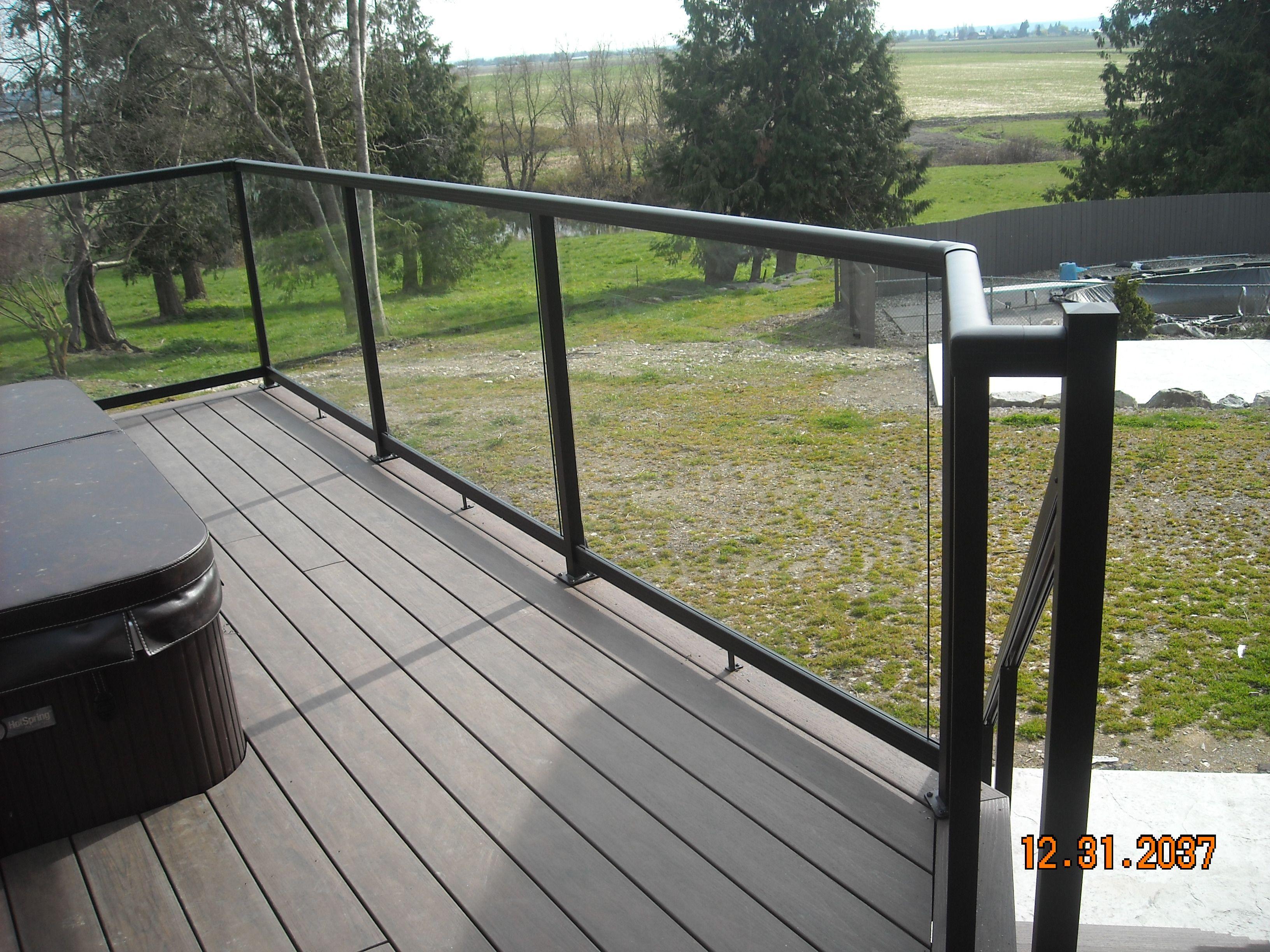 Aluminum Railings Glass Panels Backyard Ideas Swimming Pools Yard Crashers Garden Ideas