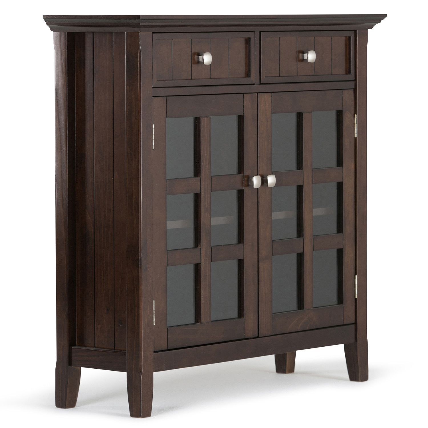Acadian 36 x 12 x 36 inch Entryway Storage Cabinet in Tobacco Brown