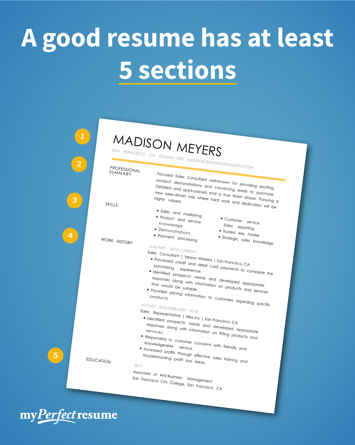 Top Tips To Make Your Resume Sections Stand Out Resume Acting