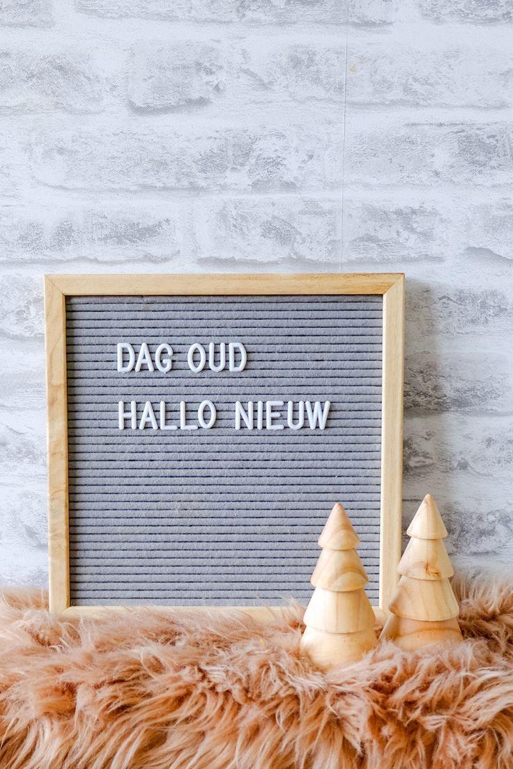 15 Letterbord teksten over Oud en Nieuw decorationquote
