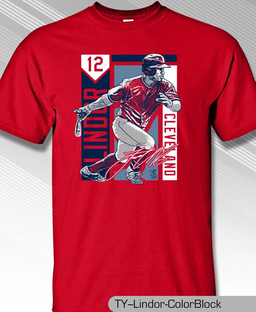 competitive price c50da 8d399 Cleveland Indians MLBPA Francisco Lindor Color Block Youth ...