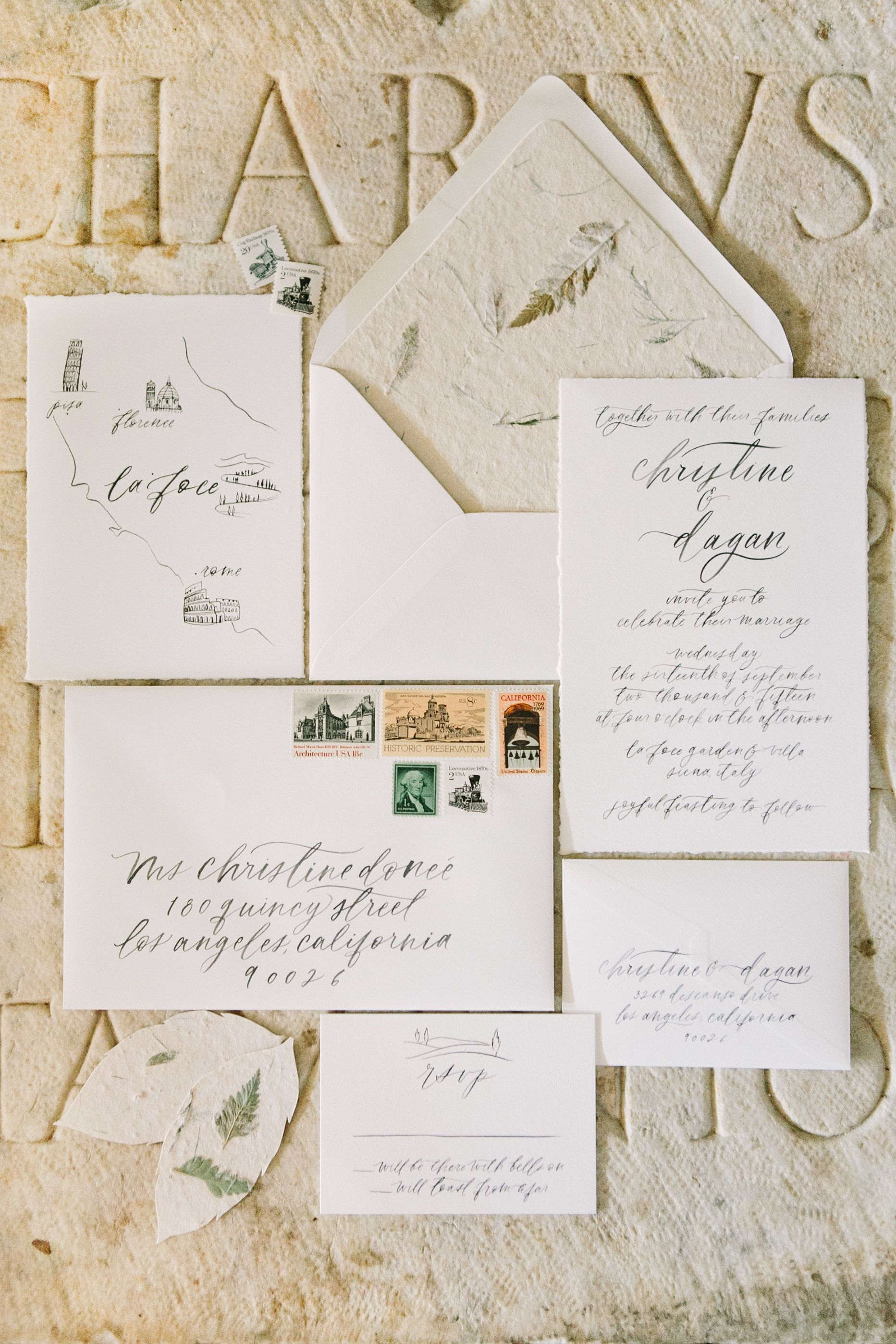Beautiful Deckle Edged And Natural Paper Invitation Suite By Chelsea