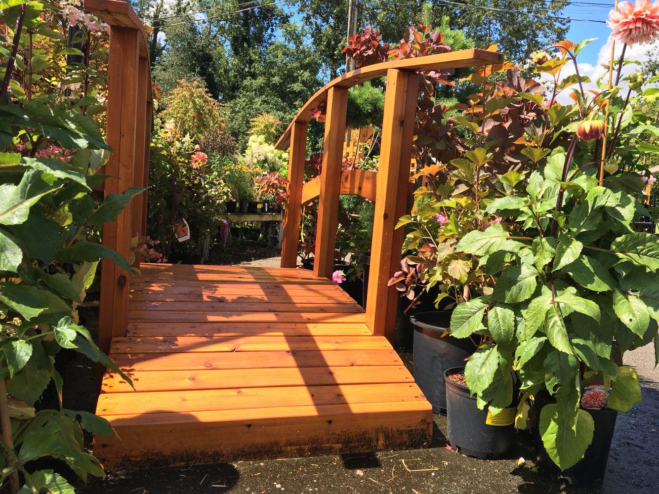 Gorgeous wooden bridge surrounded by trees & shrubs #garden #design ...