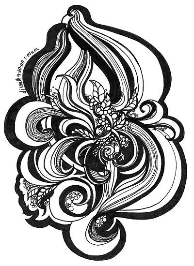 black and white doodle pen and ink by djsmith70 redbubble