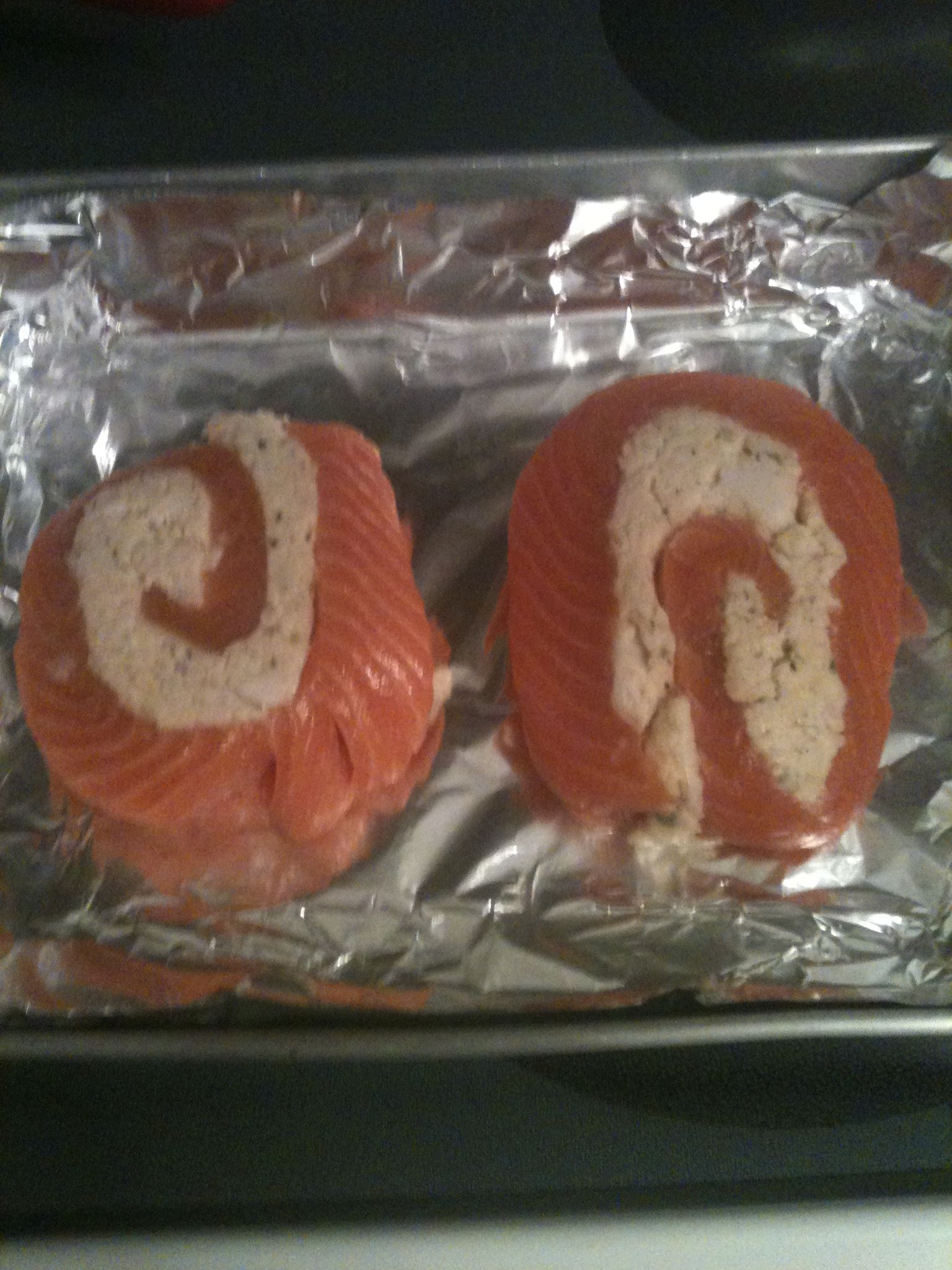 Salmon pinwheel with crab meat stuffing i bought it at publix salmon pinwheel with crab meat stuffing i bought it at publix already made up you preheat oven on 350 then bake for 35 min my mom loved it ccuart Image collections