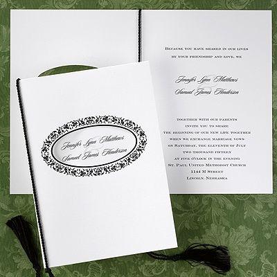 Oval Filigree Wedding Invitation OFF