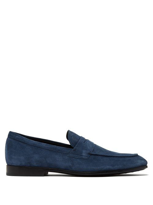 8a8a9817c5e TOD'S TOD'S - SUEDE PENNY LOAFERS - MENS - BLUE. #tods #shoes ...