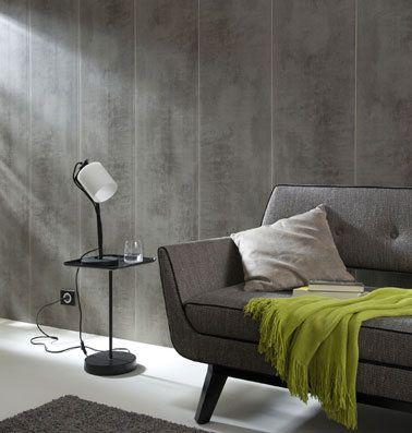 Revêtement mural, lambris PVC effet bois - Galerie Decarts   - mur en bois interieur