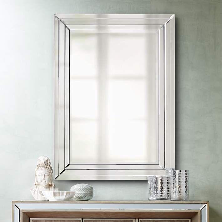 Bryse Glass 36 X 48 Vertical Wall Mirror Drita And Eddie