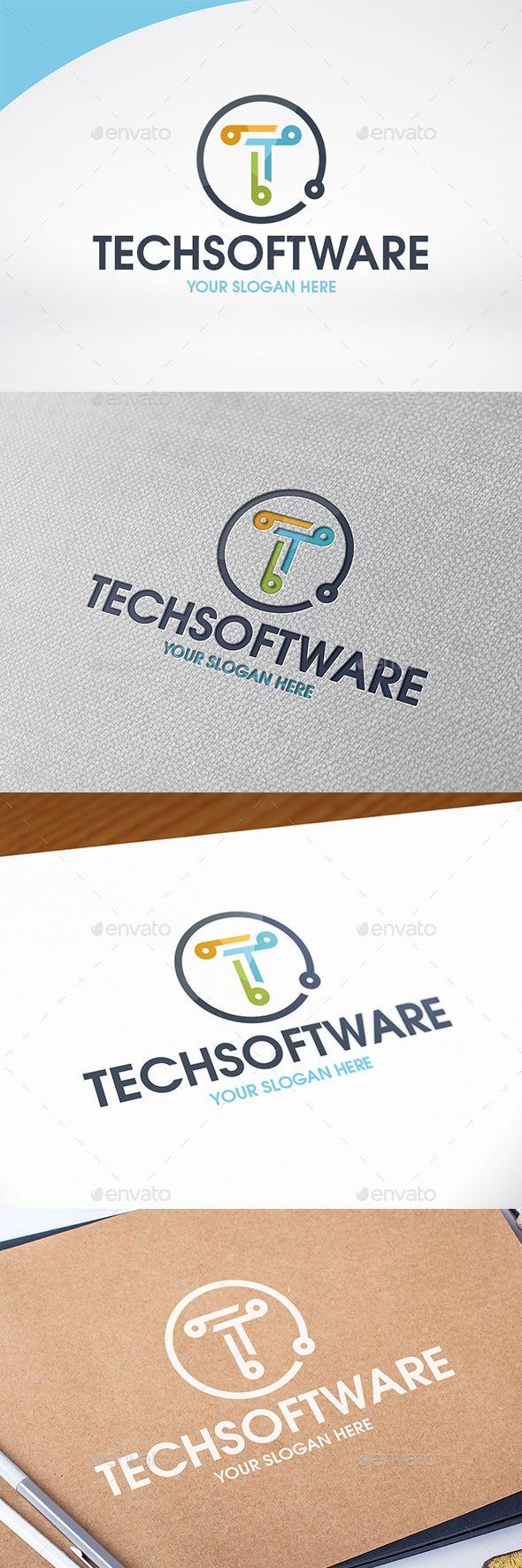 Technology Letter T Logo Template