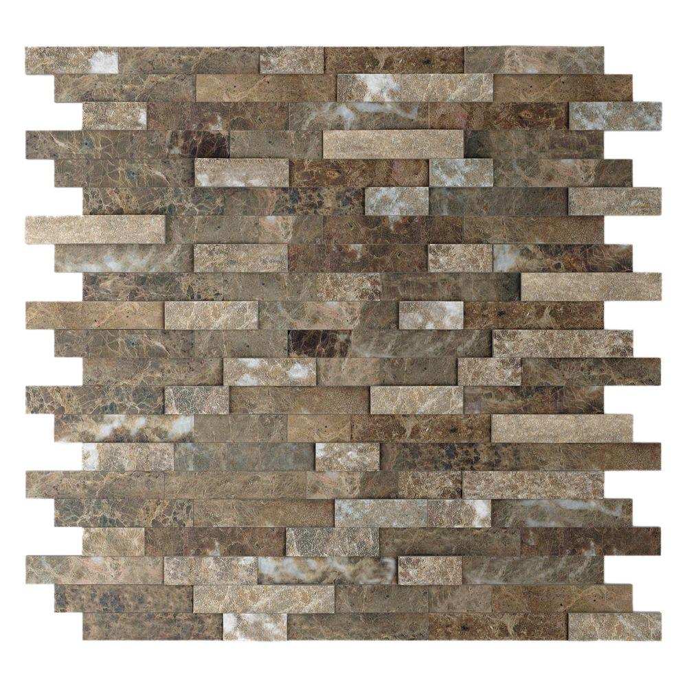 Inoxia SpeedTiles Bengal 1175 in x 116 in Stone Adhesive Wall