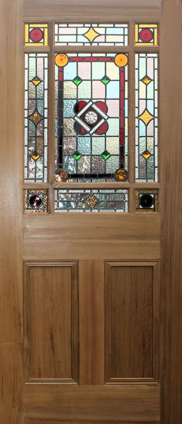 Painting Of New Stained Glass Internal Doors In Edwardian And Victorian Styles Half Glass Interior Door Glass Doors Interior Internal Glass Doors