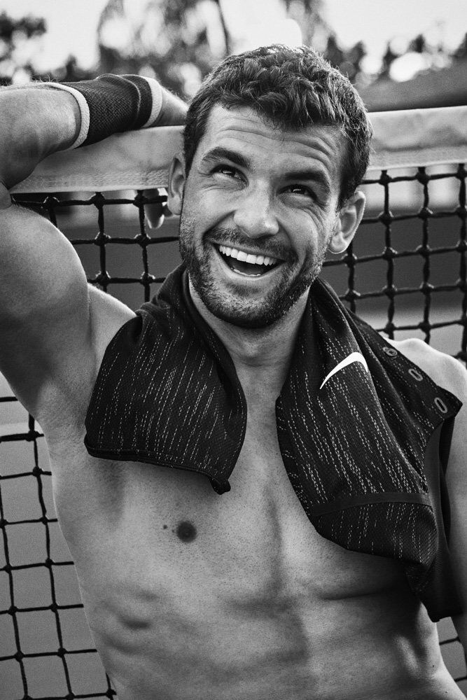 Dimitrov Tennis Shirtless