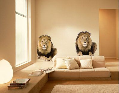 Wall Decal - multi-coloured no.165 Two Lions