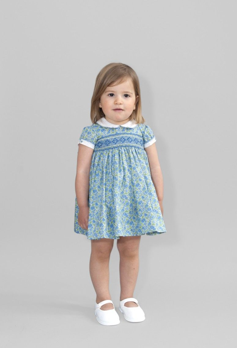 Vestido modelo cuello bebé+ telas | Friki | Smock vestidos ...