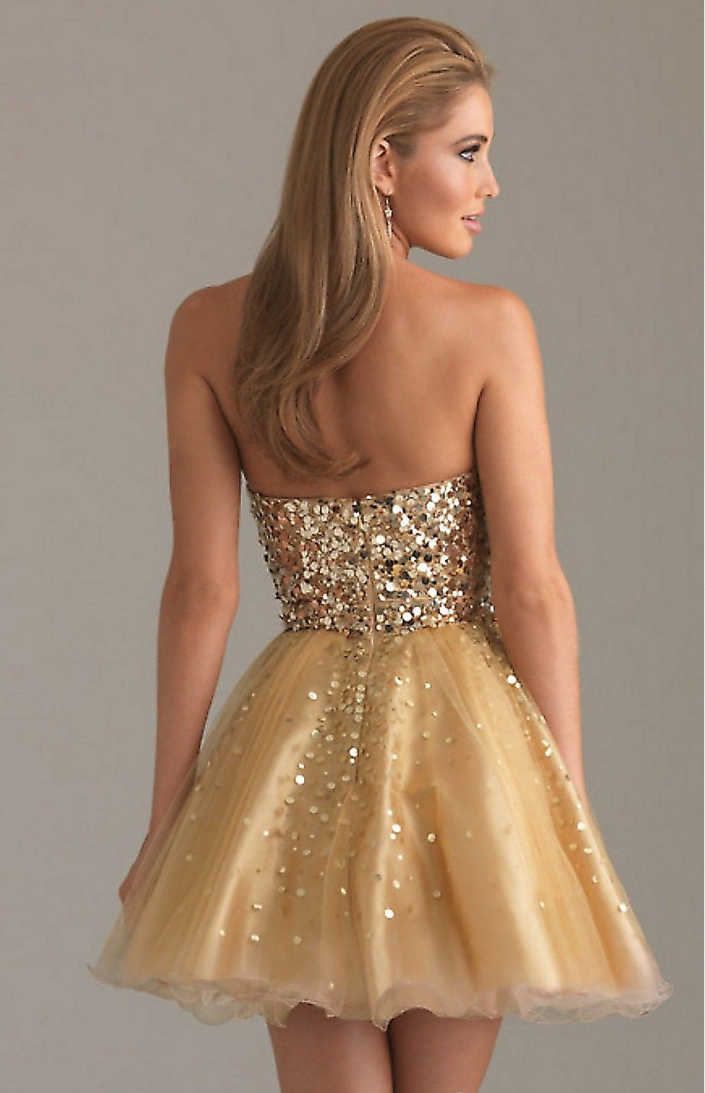 new-Short Gold Party Dress by Night Moves-2.jpg (1000×1549 ...