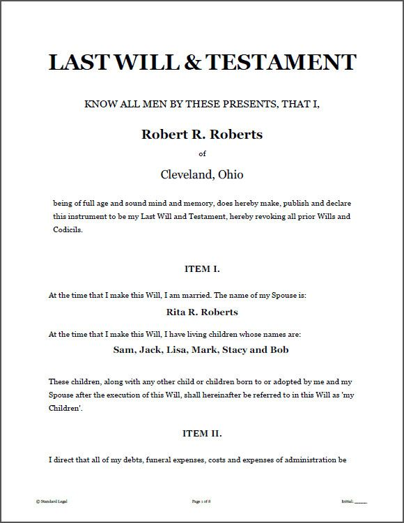 Free Printable Will Template Fresh Last Will And Testament Template Last Will And Testament Will And Testament Living Will Template