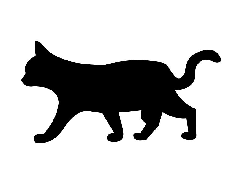 this fresh fossil freebie friday spooky black cat silhouettes - Black Cat Silhouette Halloween