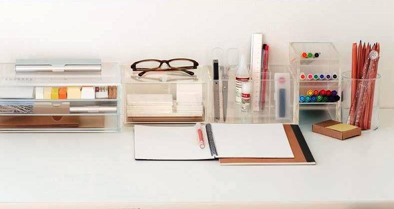 Muji Organizers Minimalist Minimalism Desk