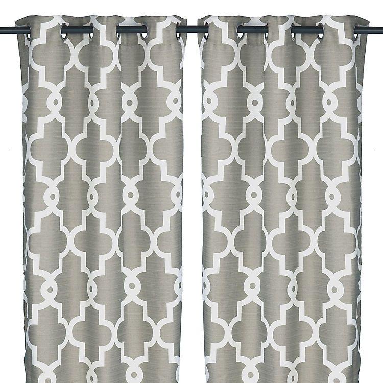 Gray Maxwell Curtain Panel Set 84 In Geometric Curtains Quatrefoil Curtains Curtains