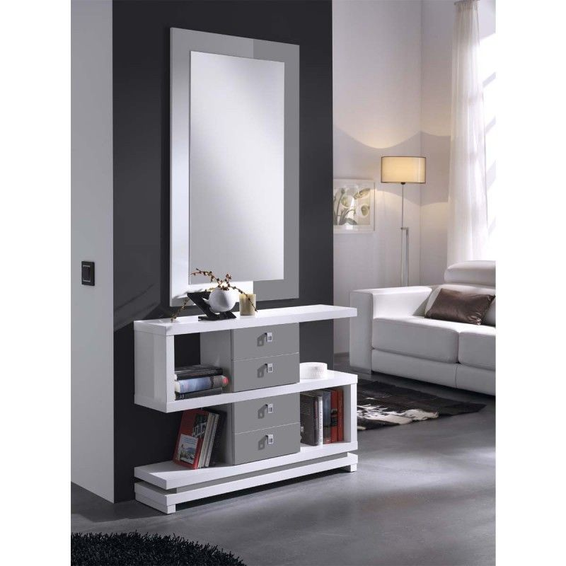 Meuble d 39 entr e design eva atylia commode entree for Miroir design solde