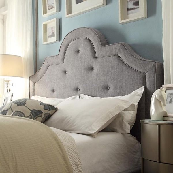 Inspire Q Harper Tufted High Arching Linen Upholstered Full Size Headboard Ping S On Headboards
