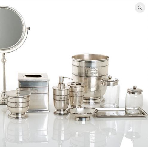 I Love This Gorgeous Pewter Bath Accessories Set. Would Look Super  Luxurious In A Bathroom