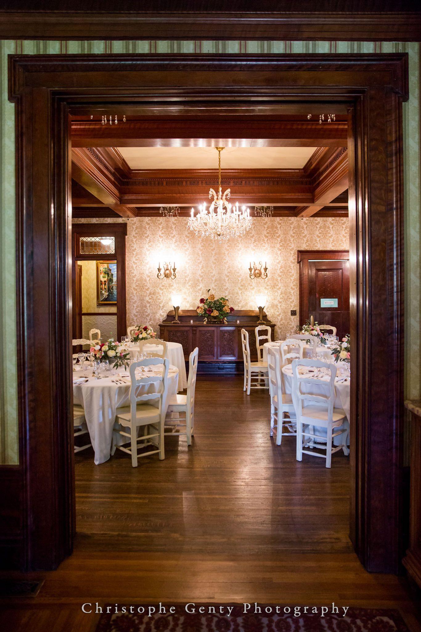 Dining Room Churchill Manor in Napa California Wedding