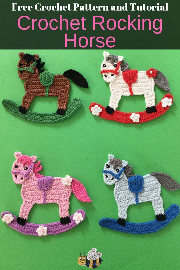 Crochet Rocking Horse Pattern,  #Crochet #Horse #Pattern #Rocking #horsepattern