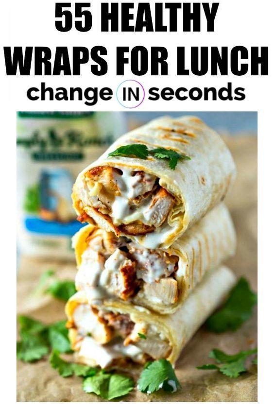 55 gesunde Wraps zum Mittagessen, die einfach zu machen sind - New Ideas #dinnerideas2019
