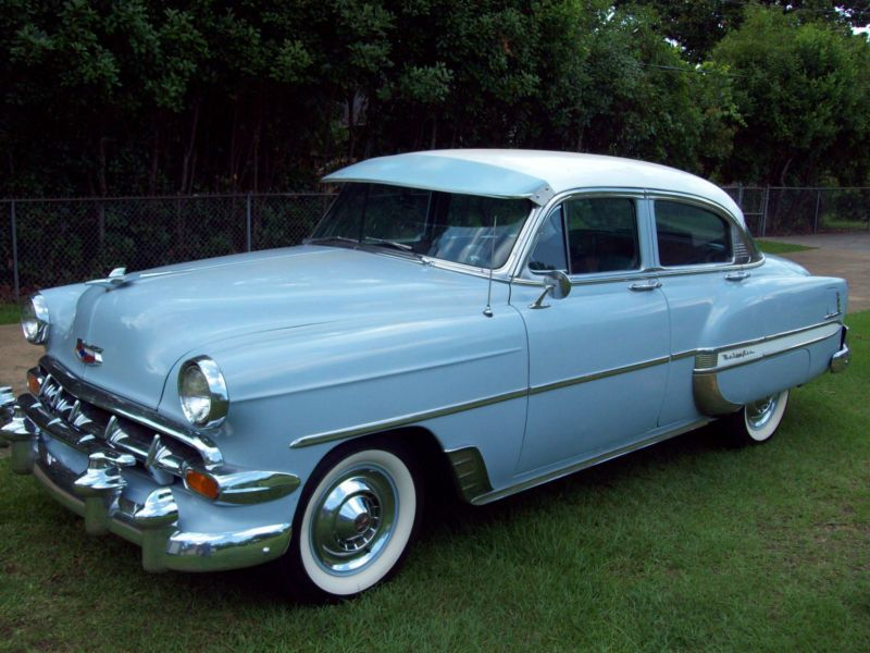 1954 chevrolet 4 door belair cars pinterest for 1954 belair 4 door