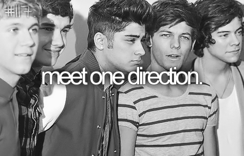 just seeing them in concert would be good enough. (: