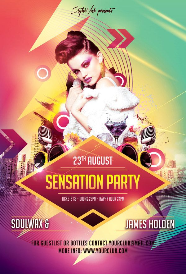 Sensation Party Flyer Flyertemplates Flyerdesigns Psdflyers