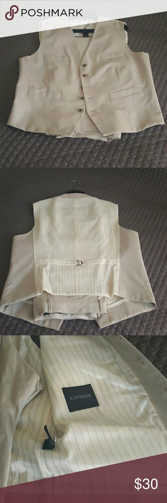 MENS Express khaki vest MENS Express khaki vest.  Pants sold seperately Express Jackets & Coats Vests