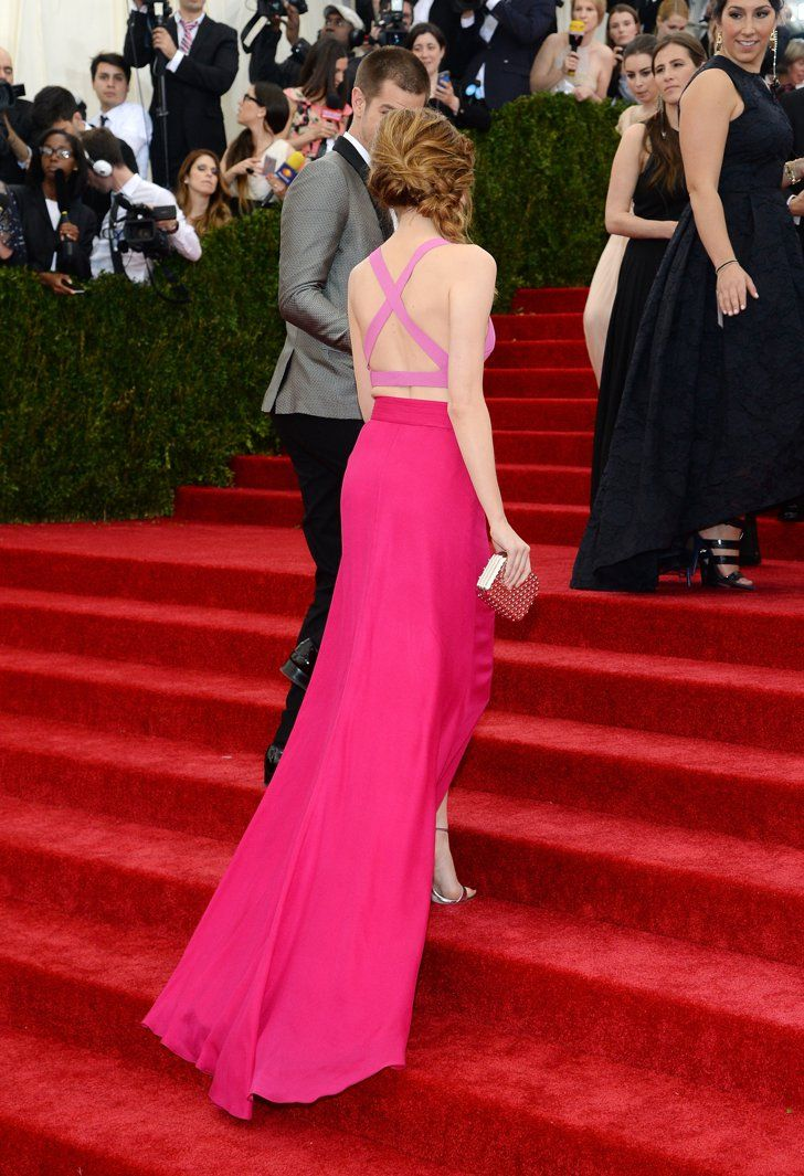 Pin for Later: The Most Stunning Met Gala Staircase Shots  Andrew Garfield offered Emma Stone his hand.