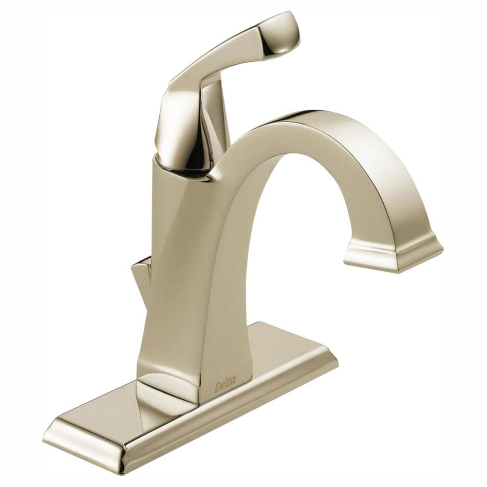 Delta Dryden Single Hole Single Handle Bathroom Faucet With Metal