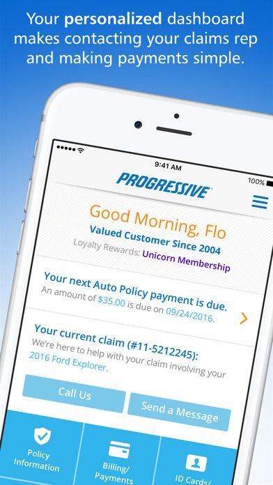 iPhone Screenshot 1 Progress, Progressive insurance