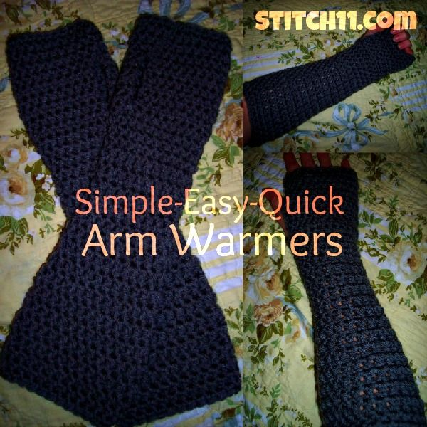 Simple Quick Easy Arm Warmers From Stitch11 Knittingcrocheting