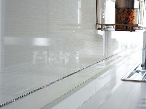 chrome trim backsplash tile trim