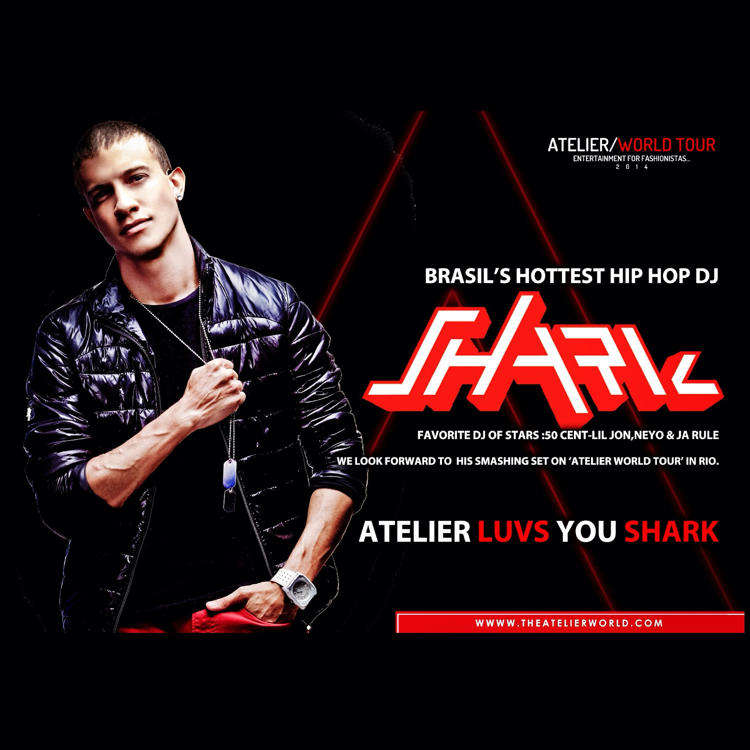 DJ #SHARK @DJSHARKBRASIL Live at the THE #Atelier/WORLDTOUR #PARTY#RIODEJANEIRO #RIODEJANEIROPARTY JULY 11th #URCA CIRCULO MILITAR DA  PRAIA VERMELHA/A FESTA MAIS EXCLUSIVA DE #DUBAI / CHEGA AO RIO /trazendo uma experienca unica em Sua our mundial COMPRE NO:WWW.TIXBOX.COM /WWW.INGRESSOCERTO.COM  #PARTY #fun #music #dance #rioparty #followus #tagsforlikes #instadaily #instaparty #instagood #worldcup2014 #worldcupbrazil2014 #fifa #fifa2014 #brasil #brasilgirls #brazilian