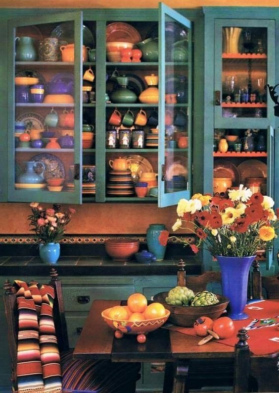 Der goldene herbst inspiriert zum wohnen mit farbe und - Fliesen mexikanischer stil ...