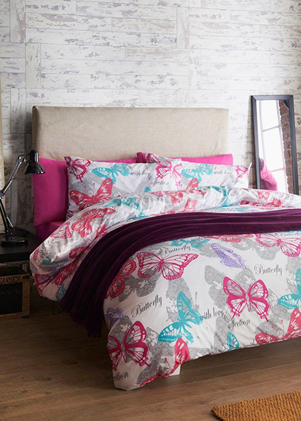 Butterfly Motif Print Duvet Set Matalan Bedrooms For Me - Matalan bedroom furniture