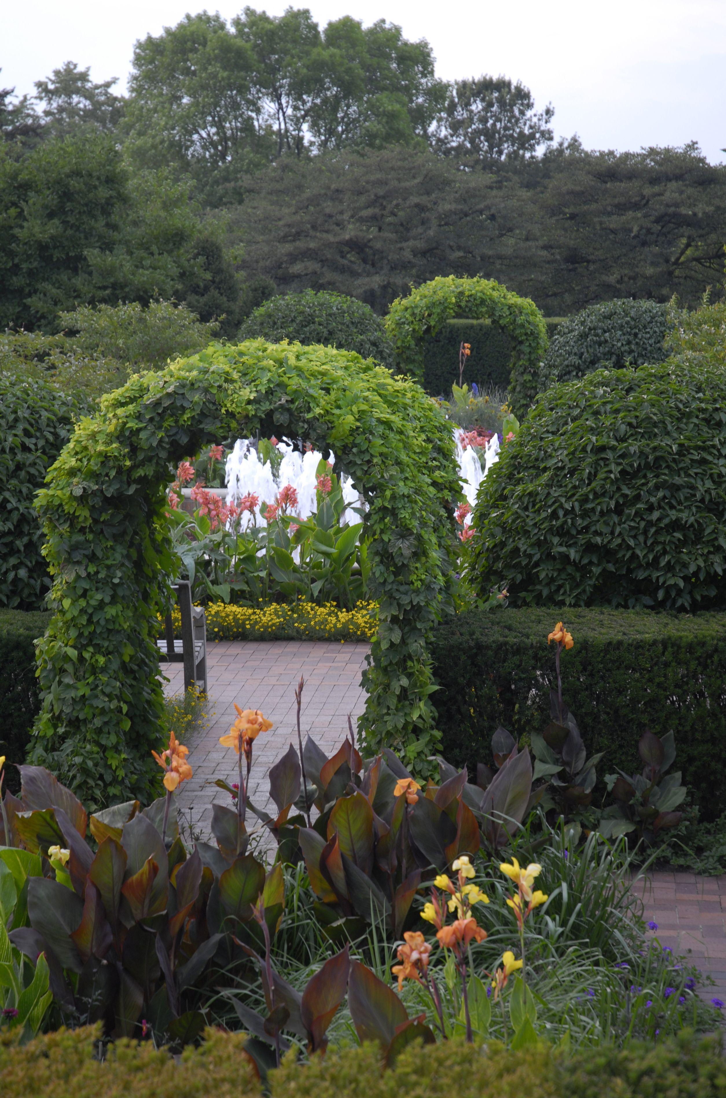 The #Chicago Botanic Garden's Circle# Garden