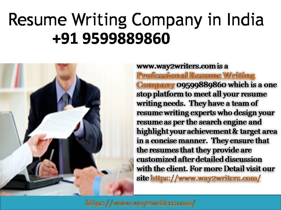 Professional Resume Writing Company in India 095998 89860