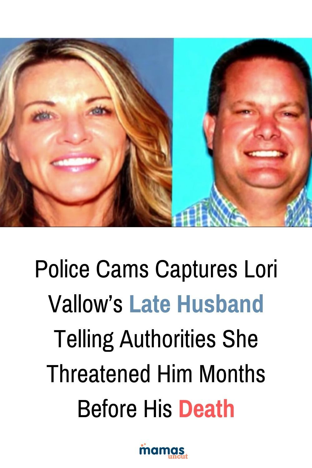 Police Cams Show Lori Vallow's Late Husband Telling Authorities She Threatened Him  In the video, Charles Vallow can be heard telling police that he believes Lisa has