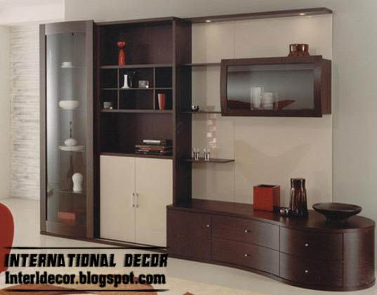 modern TV wall unit design with shelves and cabinets, TV wall units designs