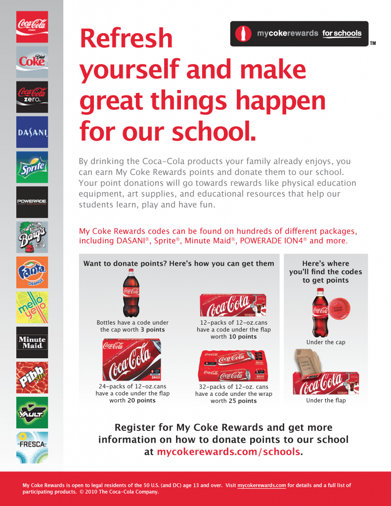 coke rewards flyer pta pinterest pta coke and box top